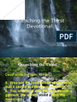 Quenching the Thirst (Devotional)