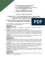 LEY DEL EJERCICIO DE LA ING. ARQUITECT.Y PROFESIONES AFINES