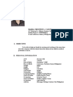 crestine resume with picture