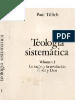 Tillich Paul - Teologia Sistematica (volumen I)