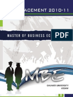 MBE Placement Brochure