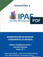 FUNDAMENTOS DE FINANZAS - SESIÓN 3 - REALIDAD ECONÓMICA - FINANCIERA NACIONAL
