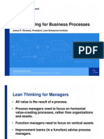 Lean Thinking for Business Processes
