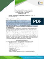Guia de actividades y Rúbrica de evaluación Tarea 2 - ECAPMA