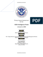 DHS ~ Privacy Impact Assessment for the HSIN-Intelligence Portal January 31, 2008