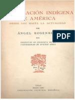 Ángel Rosenblat-La Poblacion Indigena Prehispanica