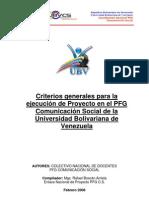 Documento Final Criterios Generales de Proyecto Version 2011