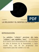 Unidad 5 La religion y el sentido de la vida