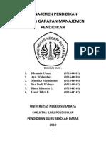 Bidang Garapan Manajemen Pendidikan