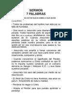 SERMON DE LAS 7 PALABRAS