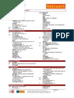 Netzwerk b1-2 Kapitelwortschatz