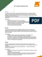 Buttet PDCVR - Positions Politiques