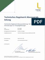 TRW-AW Teil 3 Anforderungen an Freispiegelleitungen
