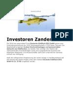 Investoren Zanderzucht- Ökologische Aquakultur