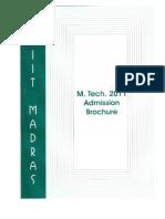IIT madras mtechbrochure