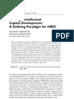 strategic intellectual capital development