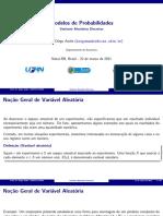 Modelos de Probabilidades - Variáveis Aleatórias Discretas aula8