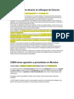CNDH denuncia abusos en albergue de Cancún