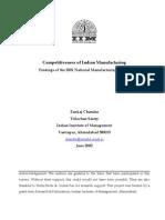IIMA Competitiveness of Indian Mfg