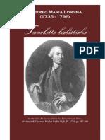 Antonio Maria Lorgna Tavole Balistiche 1771