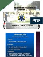 LOS ESTROPICIOS DE LA GESTION DE JAVIER ALVARADO