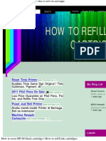 How to reset HP 60 black cartridge _ How to refill ink cartridges