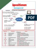 Prapositionen temporal - Arbeitsblatt