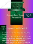 Separated and Saturated (Devotional)