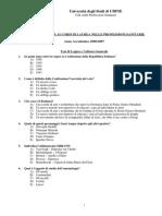 prova ammissione professioni sanitarie 2006-07