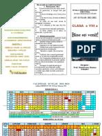 2020-2021 pliant pentru prima zi de scoala-  20buc fata- verso