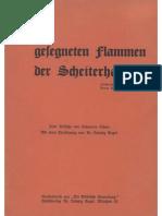 Scherr, Johannes - O ihr gesegneten Flammen der Scheiterhaufen; Verl. Ludwig Engel, 1936