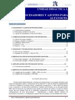 U.D. 2. Procesadores y ajustes para altavoces
