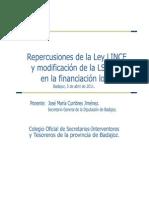REPERCUSIONES LEY LINCE Y MOD LSOTEX_cumbres_secretario