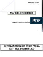 Chap V_ Etude des crues_Méthode ORSTOM_1993