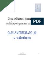 Messi Notificatori Casale Monferrato