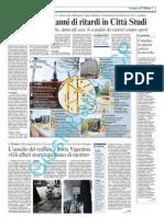 Parcheggi, 20 anni di ritardi in Città Studi - Corriere della Sera, 4 aprile 2011