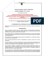 Decreto Unico Reglamentario Sector Vivienda Ciudad y Territorio Actualizado