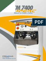Manual Peças e Partes Cm7400 v2