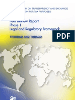 Peer Review Report Phase 1 Legal and Regulatory Framework - Trinidad and Tobago