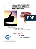 project report on consumer behaviour of soft drinks & health drinks