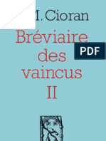 Bréviaire des vaincus II, de E.M. Cioran