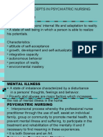 basic concept in psychiatric nursing