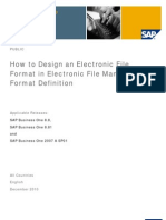 How to Design an Electronic Format in Electronic File Manager Format Definition