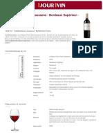 Fiche vin Château Fleur Haut Gaussens Bordeaux