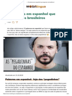 ▷ 30 palavras em espanhol que enganam os brasileiros!