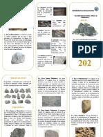 Triptico Clasificacion de Rocas