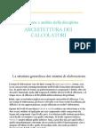 1 Architettura dei calcolatori