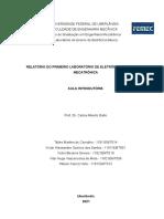 Relatório 1 - Grupo 5 Eletrônica Básica para Mecatrônica