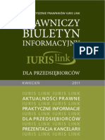 Prawniczy Biuletyn Informacyjny IURIS LINK dla Przedsiębiorców kwiecień 2011 r.