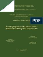Il Canto Gregoriano Nella Musica Lirica